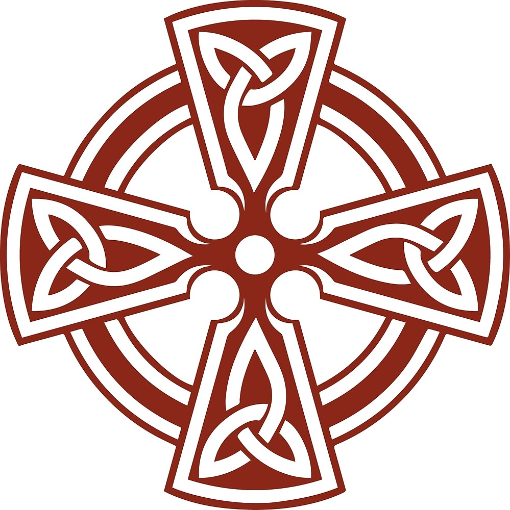 Celtic Cross (Red) by Richard Wagner