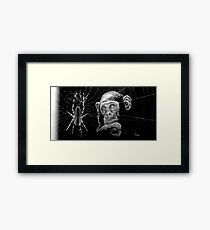 WATCHING THE SPIDER Framed Print