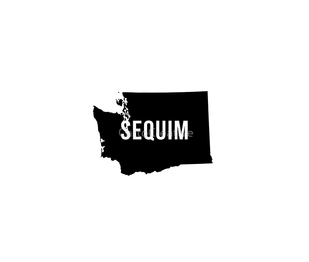 Sequim, Washington Silhouette by CartoCreative