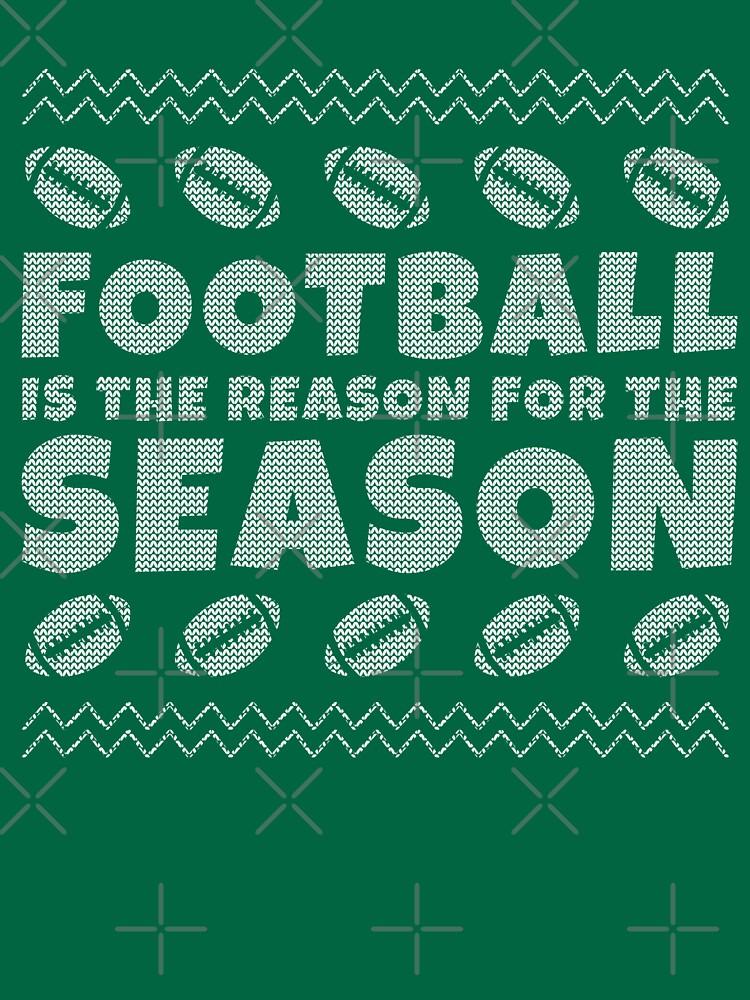 Ugly Christmas Football T Shirt by EstelleStar