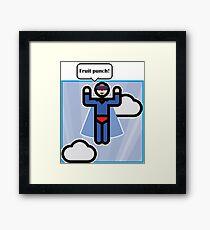 Superman is flying! Framed Print