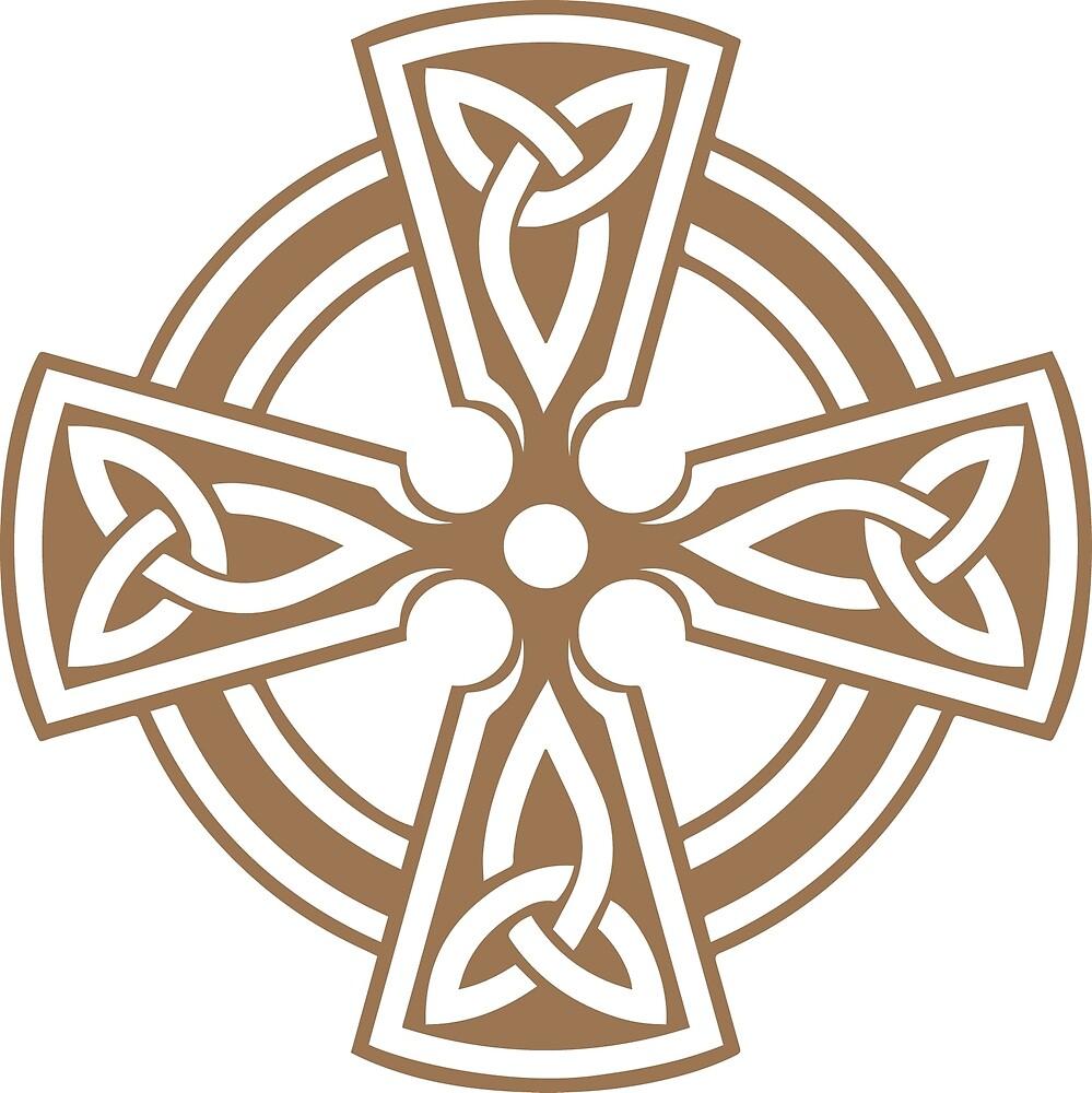 Celtic Cross (Tan) by Richard Wagner