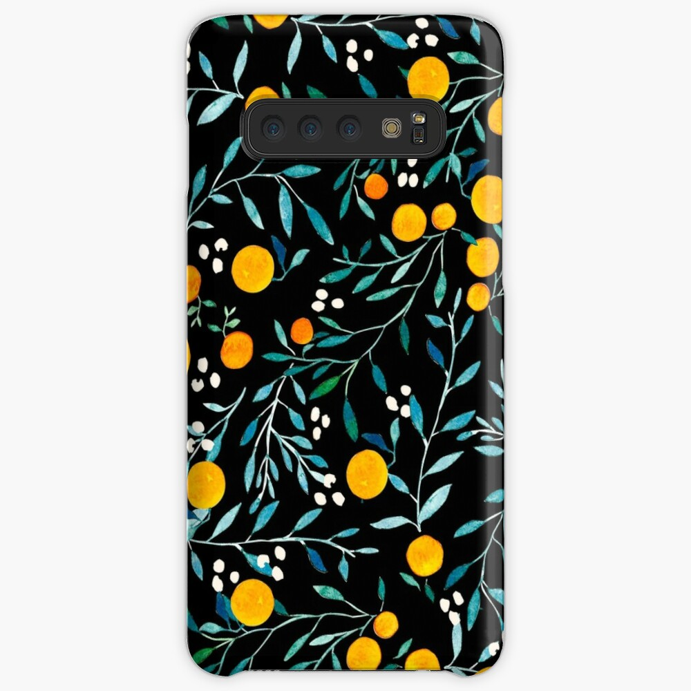 Oranges on Black Cases & Skins for Samsung Galaxy