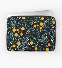 Orangen auf Schwarz Laptoptasche
