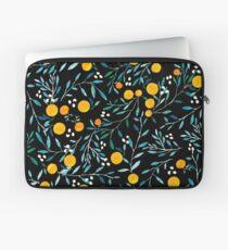 Oranges on Black Laptop Sleeve