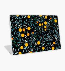Oranges on Black Laptop Skin