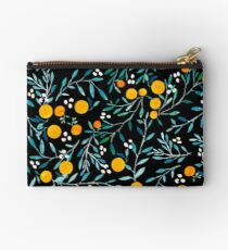 Oranges on Black Studio Pouch
