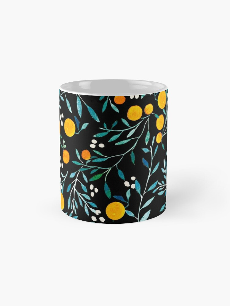 Alternate view of Oranges on Black Mug