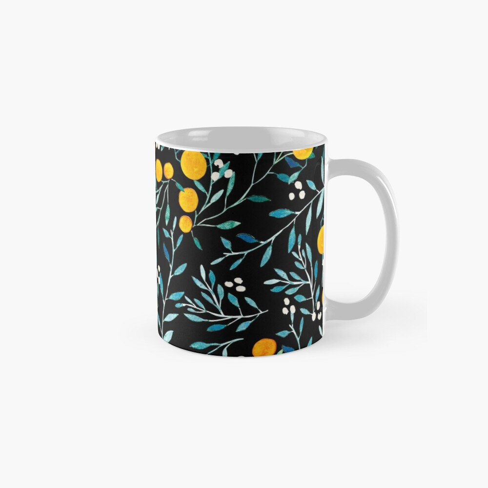 Oranges on Black Mug