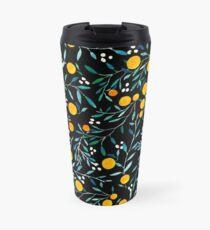 Oranges on Black Travel Mug