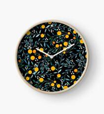 Oranges on Black Clock
