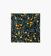 Oranges on Black Art Board