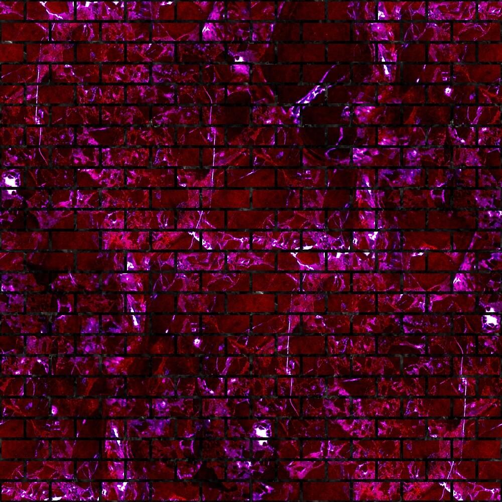 BRICK1 BLACK MARBLE & BURGUNDY MARBLE (R) by johnhunternance