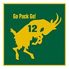 Aaron Rodgers GOAT Go Pack Go! by Kowulz
