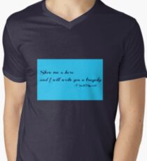 Show me a Hero and I will write you a Tragedy - F. Scott Fitzgerald Men's V-Neck T-Shirt