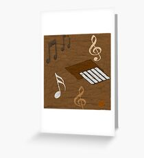 Music In  The Sand  Greeting Card