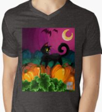 Black Cat Pumpkin Patch NO WORDS T-Shirt
