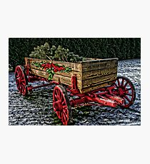 Yuletide Wagon Photographic Print