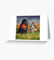 Halloween Newfie and Great Pyrenees  Greeting Card