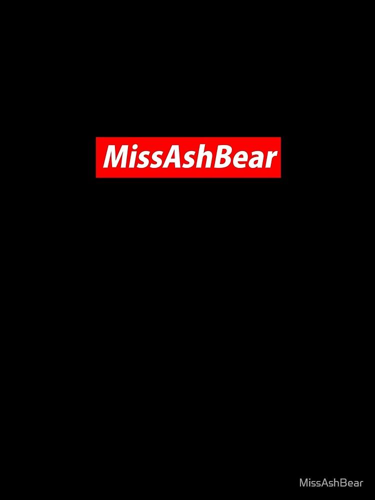 MissAshBear Red Logo by MissAshBear