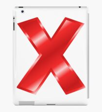 Modern Letter X Red Bold Font iPad Case/Skin