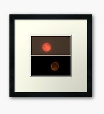 Full moon and bloody sun Framed Print