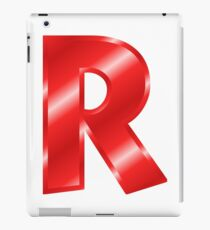 Modern Letter R Red Bold Font iPad Case/Skin