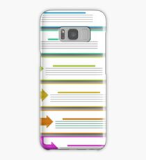 Modern  Infographics Banners Isolated on Grey Background Samsung Galaxy Case/Skin