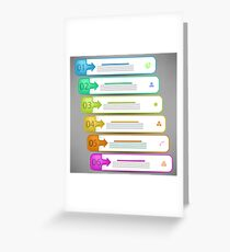 Modern  Infographics Banners Isolated on Grey Background Greeting Card
