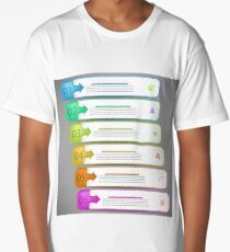 Modern  Infographics Banners Isolated on Grey Background Long T-Shirt