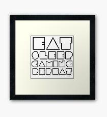 Eat, Sleep, Gaming, Repeat Framed Print