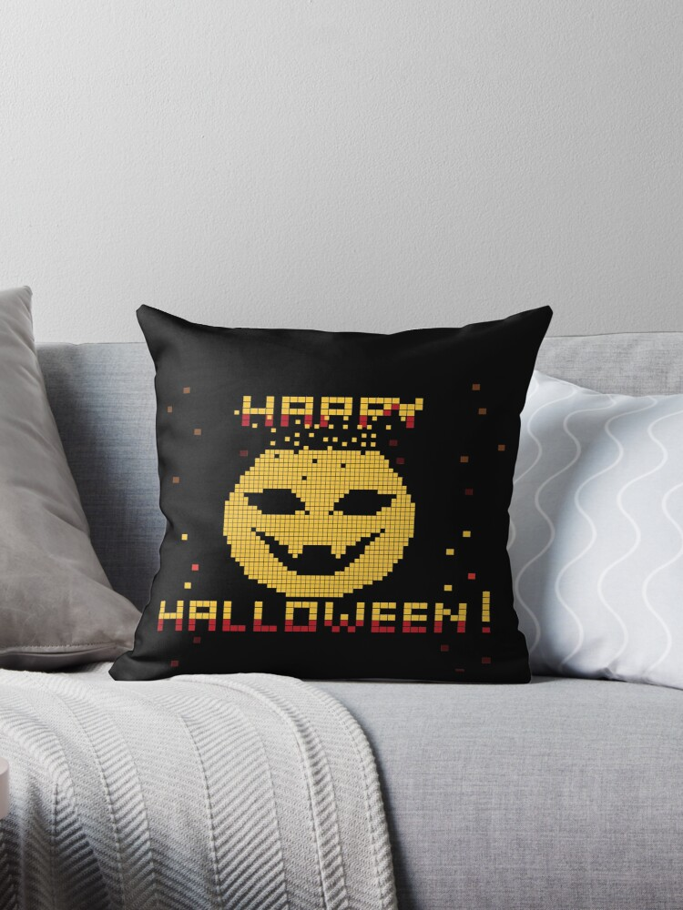 Happy Halloween Pixel Pumpkin  by CroDesign