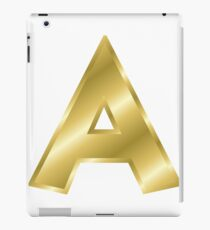 Modern Letter A Gold Bold Font iPad Case/Skin