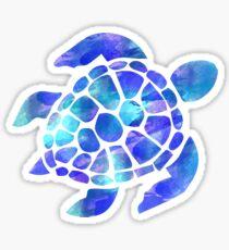 Meeresschildkröte Aquarell blau und lila Sticker