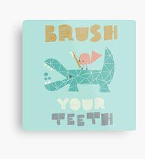 Splish Splash Zoo - Brush Your Teeth Metal Print