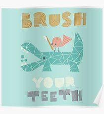 Splish Splash Zoo - Putzen Sie Ihre Zähne Poster