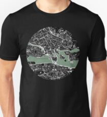 Stockholm city map engraving Unisex T-Shirt