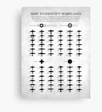 How To Identify Warplanes Canvas Print