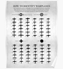 Wie man Kampfflugzeuge identifiziert Poster