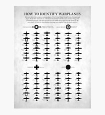 How To Identify Warplanes Photographic Print