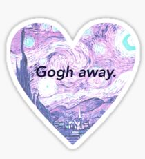 Gogh away. Sticker