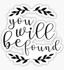 You Will Be Found Lettering Sticker