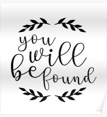 You Will Be Found Lettering Poster