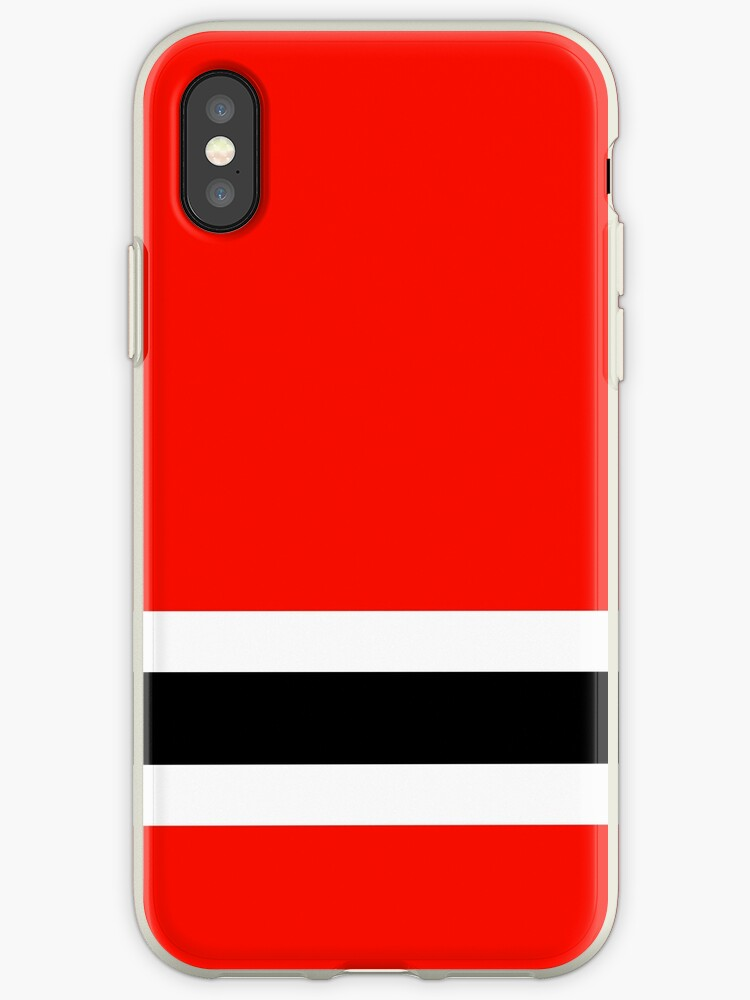 Ice hockey, red, white, black, Chicago by Loveroflines