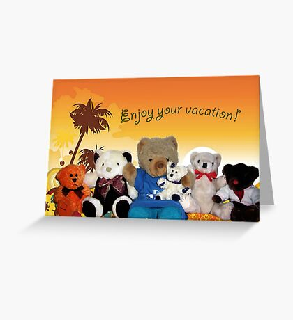 Enjoy Your Vacation Greeting Card