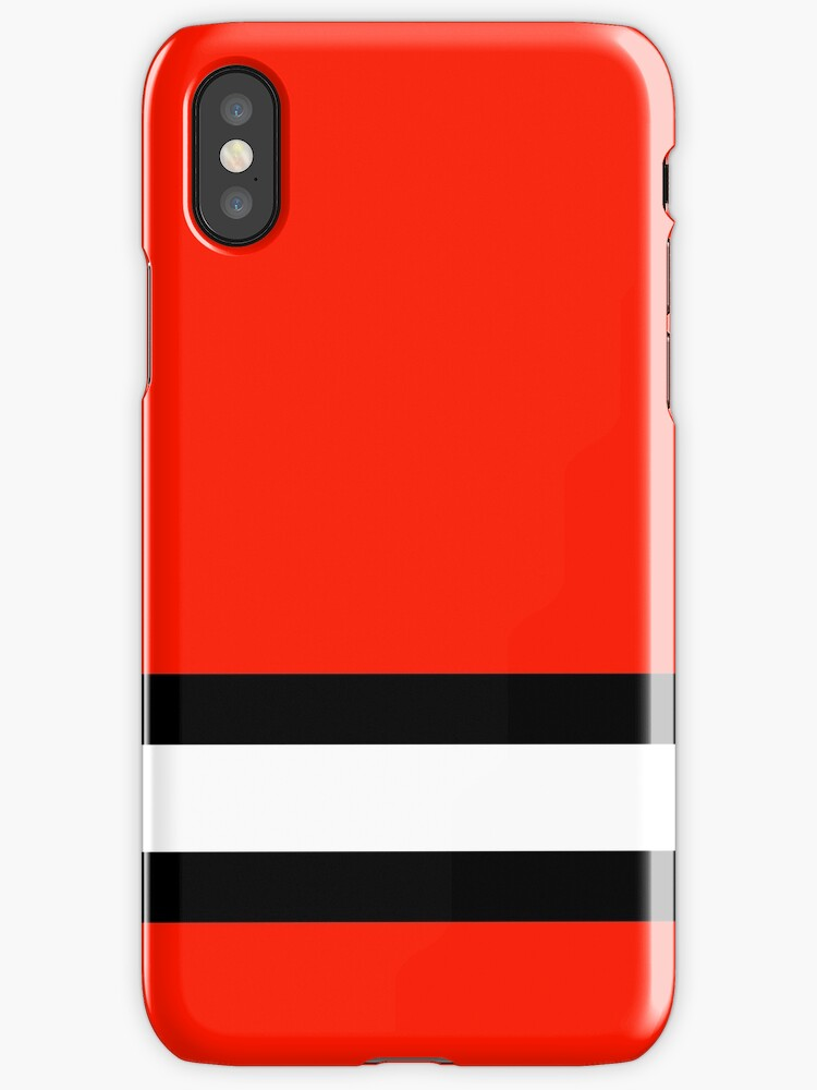 Ice hockey, red, white, black, New Jersey, Detroit  by Loveroflines
