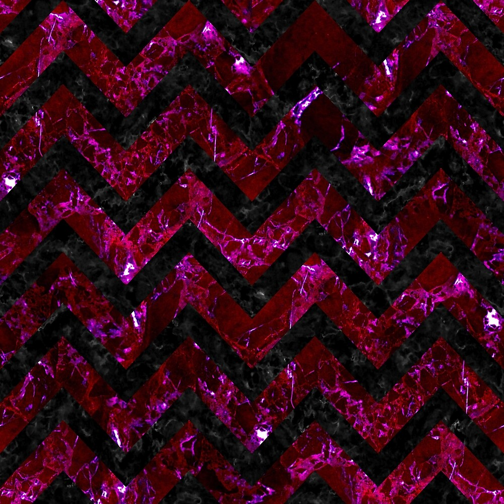 CHEVRON9 BLACK MARBLE & BURGUNDY MARBLE (R) by johnhunternance