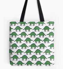 Roller Skating Stegosaurus  Tote Bag