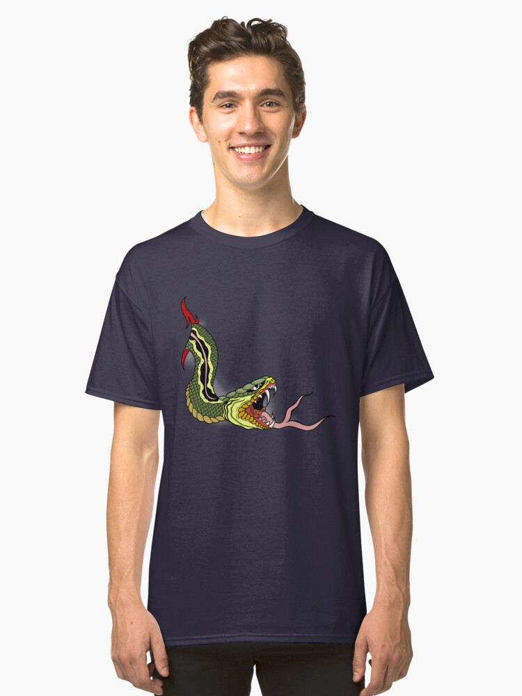 Traditional Snake Head  Classic T-Shirt Front