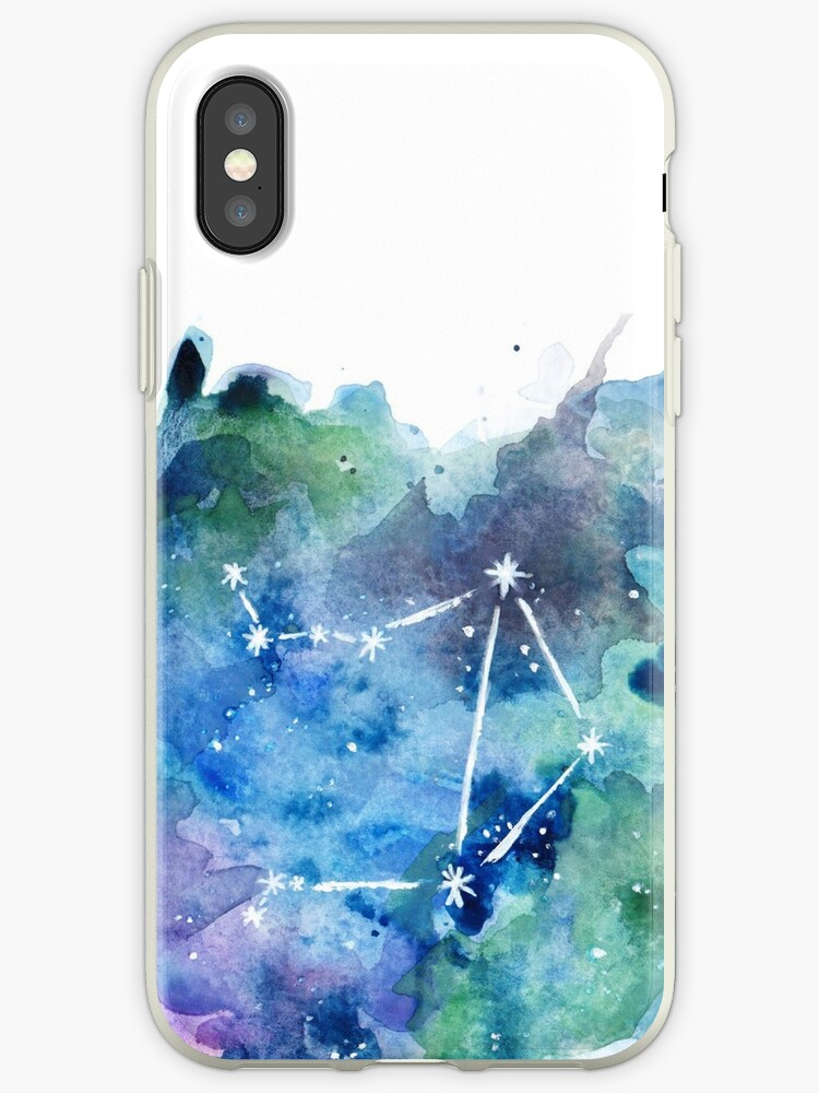 Libra Constellation Watercolor by goldenyakstudio